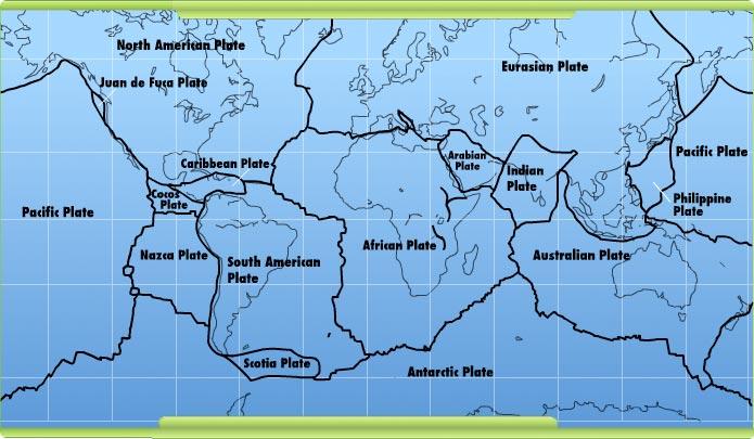 Interactives Dynamic Earth Plates Boundaries