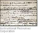 [Picture of a draft form of the Declaration of Independence