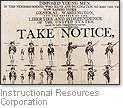 [Picture of training poster from the Continental Army]