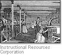 [Picture of women workers at a textile mill]