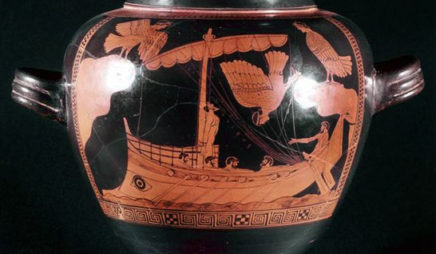 Greek Vase - Odysseus and the Sirens