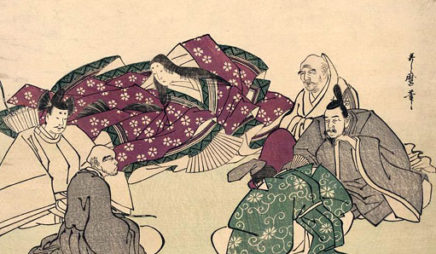 Murasaki with five wise poets