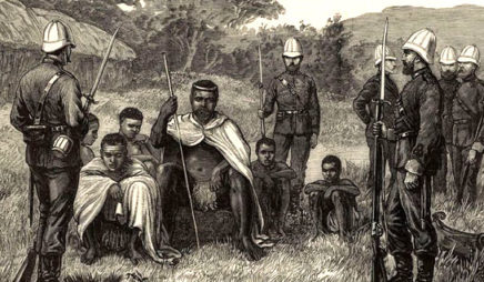 African leaders with British soldiers