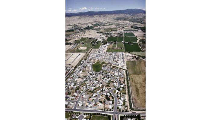Suburban development in Douglas County, Colorado