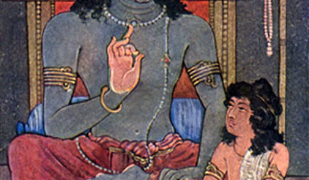 Krishna instructing Arjuna