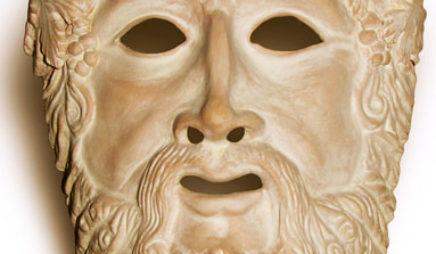 Greek drama mask