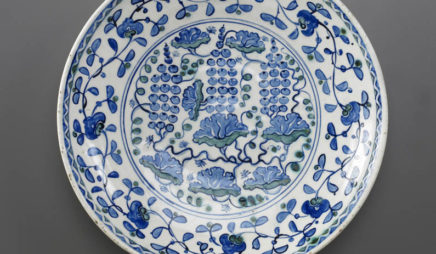 Dish with Grape Design