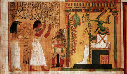 Kha and His Wife Meryt Before Osiris (detail) from the Book of the Dead
