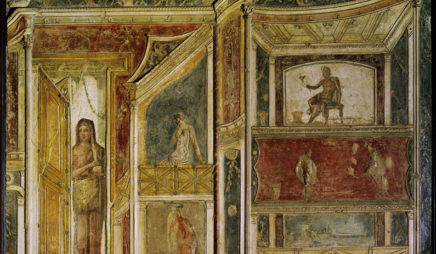 Theatrical decoration with figures