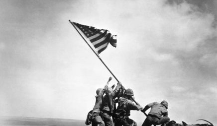 American Marines Raising American Flag on Mount Suribachi, Iwo Jima