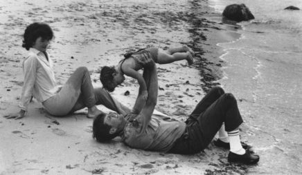 Kennedy Family on beach, Hyannis Port, 1959 (Caroline overhead)