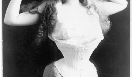 Portrait of Woman Wearing Corset